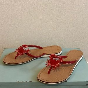 Cole Haan Red Heart Crab Sandals